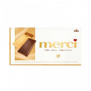 Ciocolata Merci tableta cafea, frisca 100g