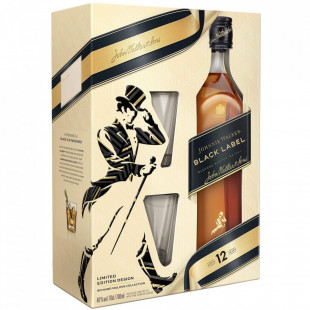 Johnnie Walker Black Label Cutie Pahare 0.7L