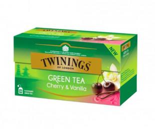 Twinings Ceai Verde Cu Aroma Cirese & Vanilie 25 x 1.7g