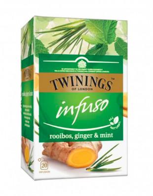 Twinings Infuzie Rooibos, Ghimbir & Menta 20 x 2g