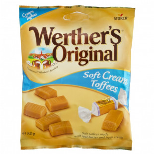 Caramele Werther's soft cream 80g