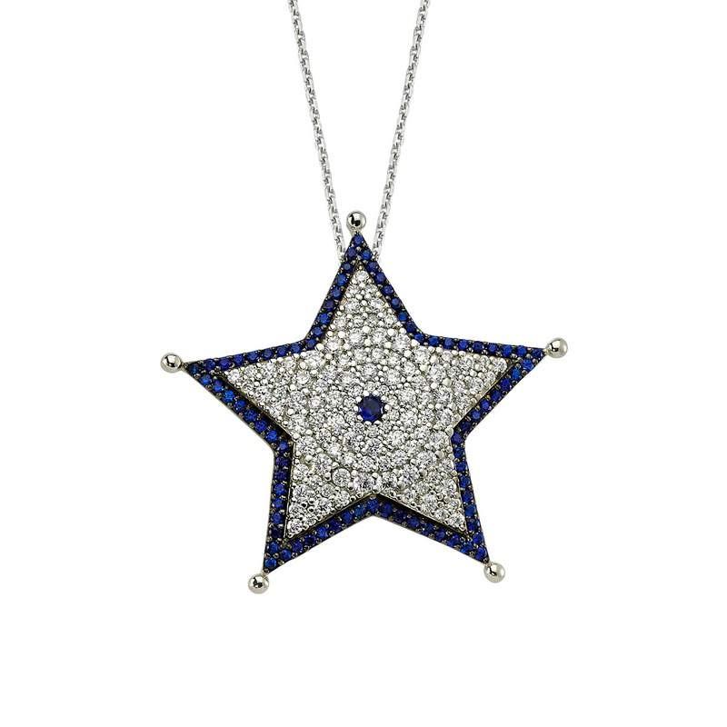 Star necklace designer turkish silver pendant wholesale star necklace designer turkish silver pendant wholesale images aloadofball Images