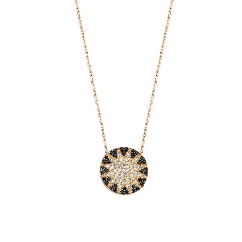 Sun Pendant Necklace Turkish Silver CZ Wholesale