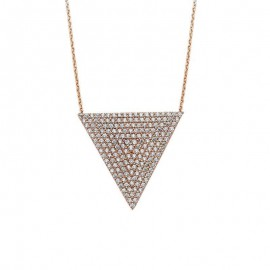 Rose Gold  Triangle  Necklace Silver Wholesale images