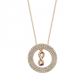 Silver infinity Necklace Rose Plated Wholesale images
