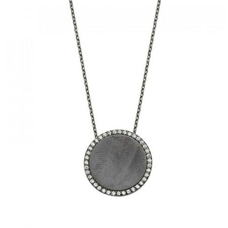 Black Rhodium Chain Silver Necklace Wholesale images