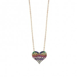 Sterling Silver Heart Necklace Pendant Wholesale images