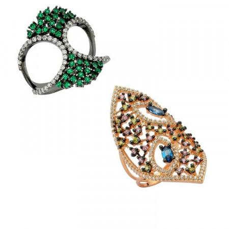 Turkish Design Silver Women Rings Wholesale images