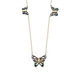 Butterfly Turkish Necklace Gold Plated over Sterling Silver images