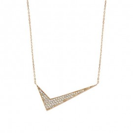 CZ Triangles Necklace Sterling Silver Pendant Wholesale images