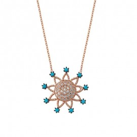 Sterling Silver Flower Necklace images