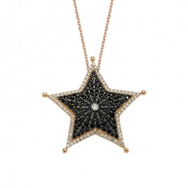 Sheriff Jewelry Star Design Silver Necklace Wholesale images
