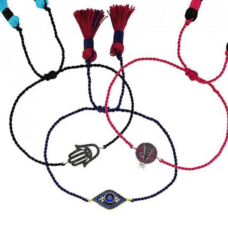 Wholesale Silver Turkish Evil Eye Bracelets and Hamsa Jewelry images