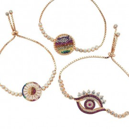Wholesale Evil Eye Tennis Turkish Silver Bracelets images