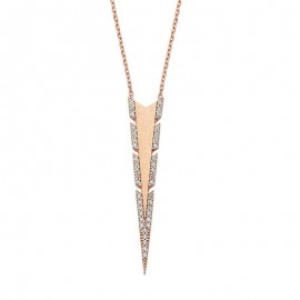 Wholesale Silver Long Triangle Pendant Necklace images