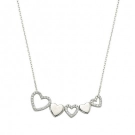 Sterling Silver in Turkish Wholesale Heart Necklace images
