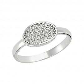 Minimal CZ Silver Ring images