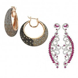 Turkish Silver Earrings Micron Gold Plated Wholesale images