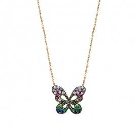 Butterfly Silver Necklace Wholesale images