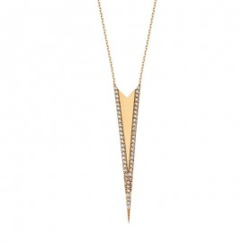 Silver Triangle Long Turkish Necklace images
