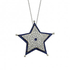 Star Necklace Designer Turkish Silver Pendant Wholesale images