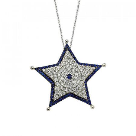 Star Necklace Designer Turkish Silver Pendant Wholesale images