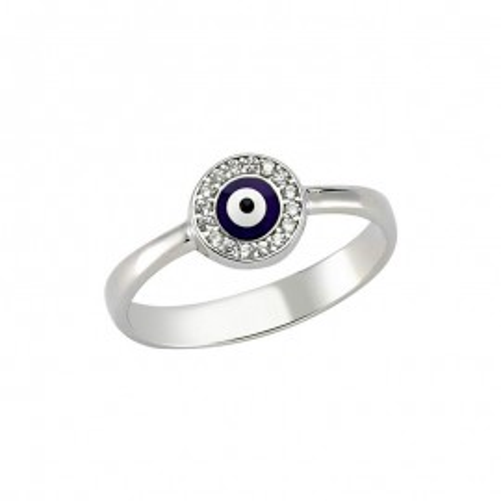 Wholesale dark blue evil eye Turkish ring images