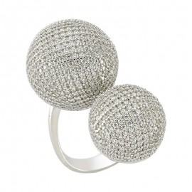 Pave Style Handmade Rings Silver in Turkish Wholesale images