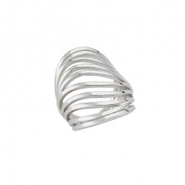 Plain Sterling Silver Gold Plated Turkish Rings Wholesale images