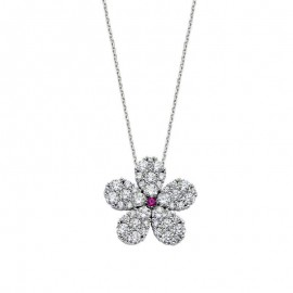 Turkish Jewelry Wholesale Flower Silver Necklace images