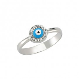 Wholesale Cz Turkish evil eye ring images