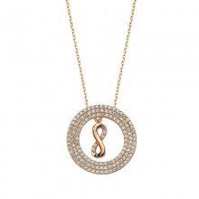 Silver infinity Necklace Rose Plated Wholesale