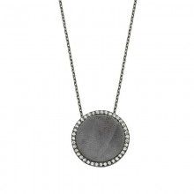 Black Rhodium Chain Silver Necklace Wholesale