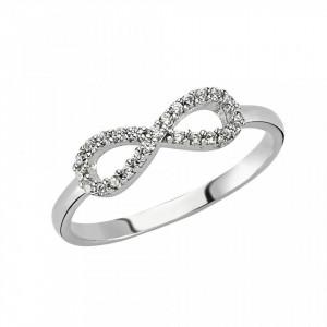 Minimal CZ Silver Ring