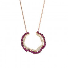 Open Circle Silver Necklace Wholesale