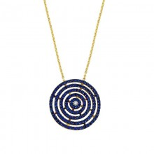 Round Geometric Silver Yellow Gold Turkish Necklace