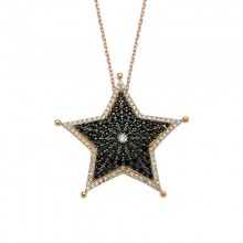 Sheriff Jewelry Star Design Silver Necklace Wholesale