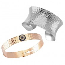 Turkish Trendy Evil Eye Silver Cuff Bangle Wholesale