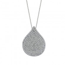 CZ Drop Necklace Silver Wholesale