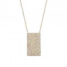 Geometric Silver Necklace White CZ Wholesale