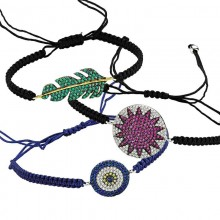 Turkish Evil Eye Silver Bracelets  Macrame Jewelry Wholesale