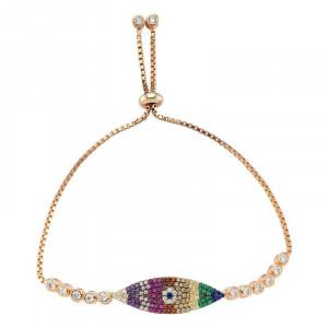 Wholesale Turkish CZ evil eye bracelet