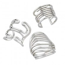 Plain Sterling Silver Gold Plated Turkish Rings Wholesale