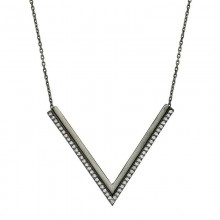Black Rhodium Plated Silver Necklace Wholesale