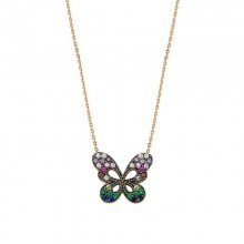 Butterfly Silver Necklace Wholesale