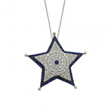 Star Necklace Designer Turkish Silver Pendant Wholesale