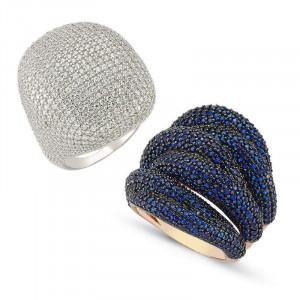 Turkish Style Silver Luxury Rings Wholesale
