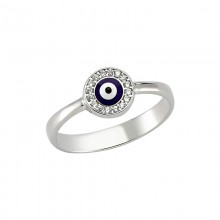 Wholesale dark blue evil eye Turkish ring