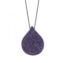Cubic Zirconia  Drop Necklace Silver Wholesale
