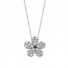 Turkish Jewelry Wholesale Flower Silver Necklace